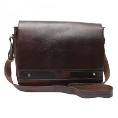 Chanter Texture Design Genuine Leather  Brown Sling Cross Bag - RA717