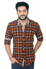 """GoPlay Brushed Cotton Multicolor Men""""s Shirt-(Code-GP18295AS)"""