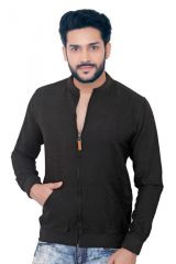 """GoPlay Black Linen Men""""s Jacket-(Code-GP18324BS)"""