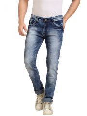 Goplay  Blue Stretch Washed Jeans For Mens - (Code -GP9592S)