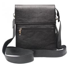 Chanter Texture Design Genuine Leather  Zet Black Sling Bag - BBL668