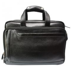 "Chanter Texture Design Genuine Leather Black 15"" Sling Laptop Bag - BBL680"