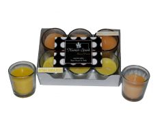 Antique Sandalwood-Vanilla Caramel Dual-Scent Votive Candle (pack of 6)