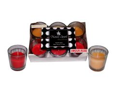 Amour Rose-Vanilla Caramel Dual-Scent Votive Candle (pack of 6)