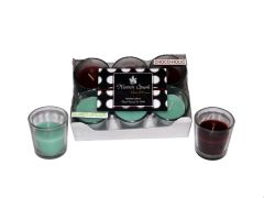 Cucumber Cantaloupe-Chocoholic  Dual-Scent Votive Candle (pack of 6)