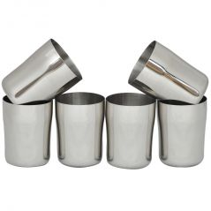 Czar Stainless Steel Glass ( PACK OF 6 PCS)