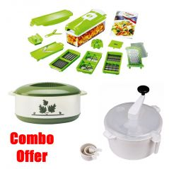 Czar Combo Of  Snap Chopper With Dough Maker And Casseroles