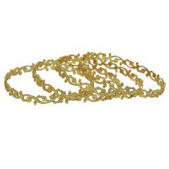 Bangles, Bracelets (Imititation) - Czar Fashionable & Gorgeous Bangle Set -BANGLE156