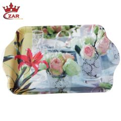Czar Multi Color Melamine Serving Trays-Set Of 3