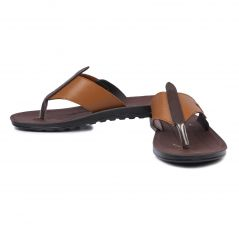 Czar Men's Brown Slipper(Code- FYGON Men Thong Slipper)
