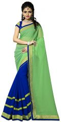 Vedant Vastram Green Colour Georgette Embroidered Saree (Code - vvask_1073)
