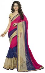Vedant Vastram Pink Colour Georgette Embroidered Saree (Code - vvask_1110)