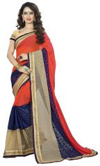 Vedant Vastram Orange Colour Georgette Embroidered Saree (Code - vvask_1112)