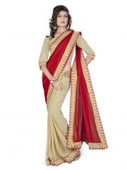 Vedant Vastram Red Colour Georgette Embroidered Saree (Code - vvask_2086)