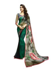 Vedant Vastram Green Colour Georgette Printed Saree (Code - vvm_6103)