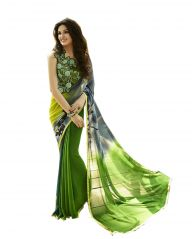 Vedant Vastram Green Colour Georgette Printed Saree (Code - vvm_6115)