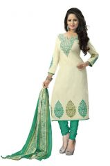 Vedant Vastram Green Colour Poly Cotton Unstitched Printed Dress Matrial (Code - vvdm_deeparama)