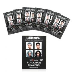 Hair4Real Hair Darkening Black Shampoo Set of 6 (150ml) with 6 Sets of Gloves & 1 Apron Free