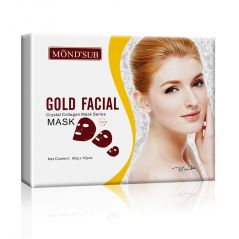 Mondsub Gold Brightening, Moisturizing & Antiwrinkle Facial Mask Sheets