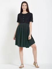 Mystere Paris Polka Print Short Dress (Code - C275A )