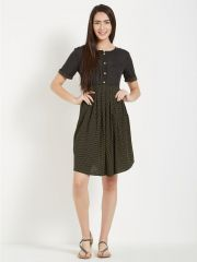 Mystere Paris Polka Print Short Dress (Code - C275C )