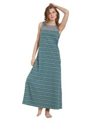 Mystere Paris Striped Maxi Dress (Code - C281A )