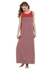 Mystere Paris Striped Maxi Dress (Code - C281B )