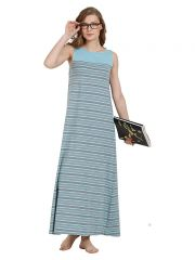 Mystere Paris Striped Maxi Dress (Code - C281C )