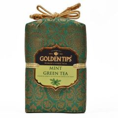 Golden Tips Mint Green Tea - Brocade Bag, 100g - Factory2doorstep