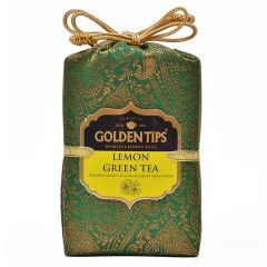 Golden Tips Lemon Green Tea - Brocade Bag, 250g - By Location