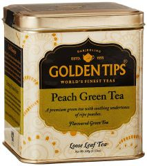 Golden Tips Peach Green Tea - Tin Can, 100g - Factory2doorstep