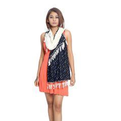Grishti Women's Vintage Lace Scarf  FOSSIL2-Multicolor