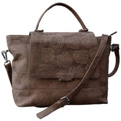 Tamanna Leather Tan Hand Held Bag  LHBW00021