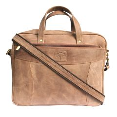 Tamanna 15 inch Laptop Messenger Bag  (Tan)