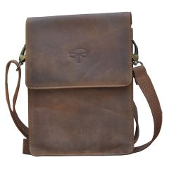 Tamanna Men & Women Brown Genuine Leather Sling Bag