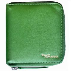 Green Leather Wallet For Mens