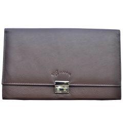 File Bags - Tamanna Women Brown Genuine Leather Document Holder  LWW00013