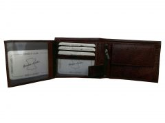 Luxurious Cherry Brown Textured Premium Mens Genuine Leather Wallet By GetSetStyle GBGLW-CHBR-7058