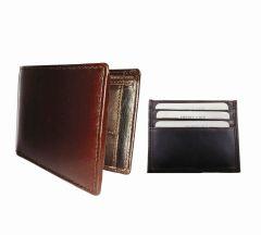 Medium & Dark Brown Combination Of 100% Genuine Leather Mens Wallet & Card Holder GLW-CHBR-7011C