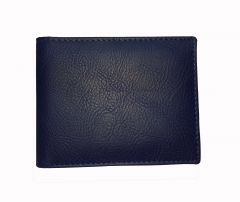 Persian Blue Textured Mens Premium PU Leather Wallet By GetSetStyle  GSSREPU-BLU-7077