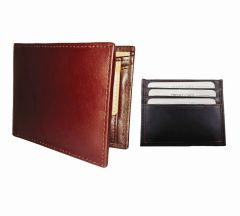 Burgundy & Dark Brown Combination Of 100% Genuine Leather Mens Wallet & Card Holder LTW-GBR-7022C