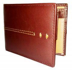 GetSetStyle Men Golden Brown 100% Genuine Leather Wallet LTW-GBR-7025
