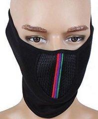 Bike accessories - Pollution Mask Half Face Cap For Bike Riding/walk/cycle/traffic Men Woman Black