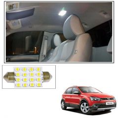 Car Lamps, Horns - AutoRight 16 SMD LED Roof Light White Dome Light for Volkswagen Cross Polo