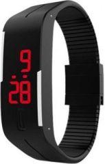 Couples dual time watches - Varni Retail LED Rubber Magnet Black Colour Digital Watch - For Boys, Men,