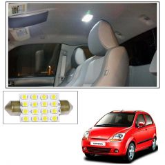 AutoRight 16 SMD LED Roof Light White Dome Light for Chevrolet Spark