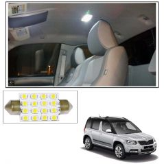 Car Lamps, Horns - AutoRight 16 SMD LED Roof Light White Dome Light for Skoda Yeti