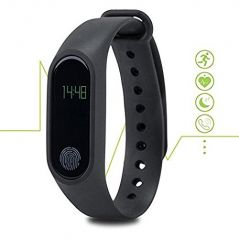 Digiboom M2 Waterproof Bluetooth Smart Band with Heart Rate Monitor and Fitness Tracker