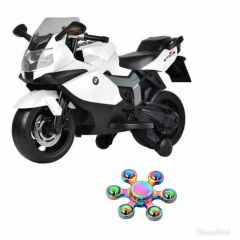 WHEEL POWER BABY BMW BIKE 283 WHITE (12 VOLT) WITH FIDGET