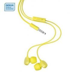 Nokia Handsfree - Nokia Wh-208 In-the-ear Headset(yellow)